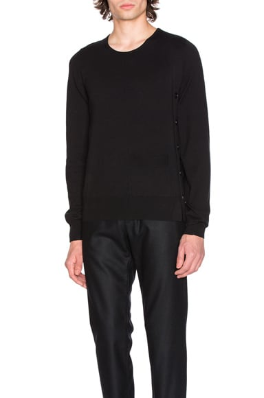 Maison Margiela Crewneck Jersey Sweater in Black