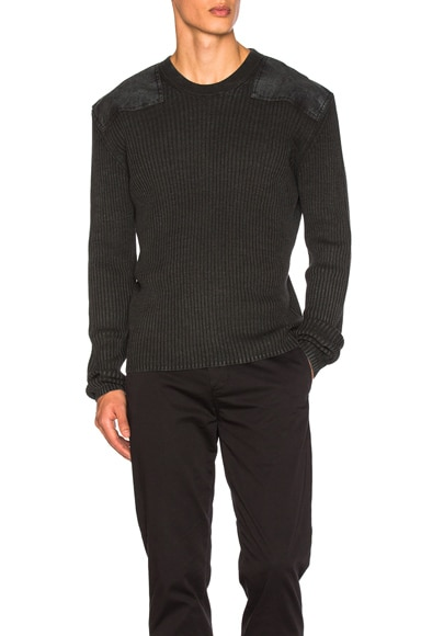 Maison Margiela Rib Sweater in Black