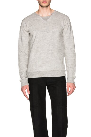 Maison Margiela Japanese Cotton Sweatshirt in Light Grey