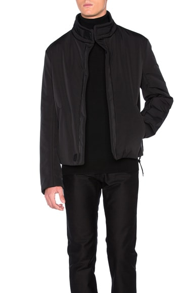 Maison Margiela Matte Polyester 3 Layer Jacket in Black