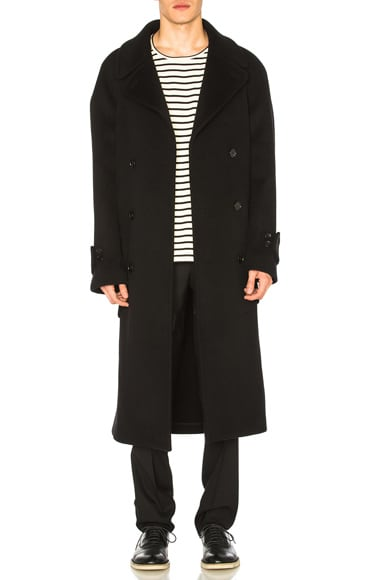 Maison Margiela Double Cloth Coat in Black