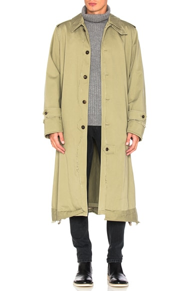 Maison Margiela Trench Coat in Kaki