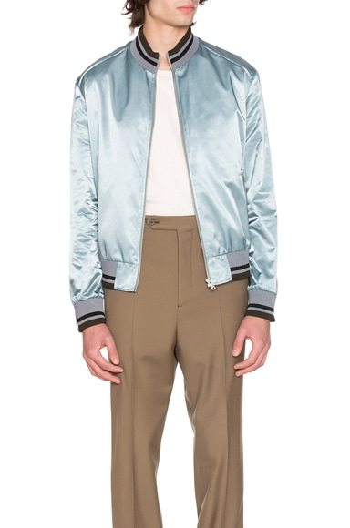 Maison Margiela Nylon Satin Bomber Jacket in Cloud