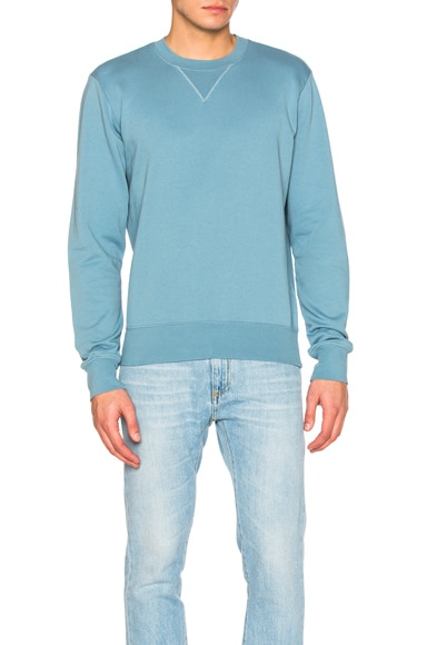 Maison Margiela Cotton Sweatshirt in Dusk Blue