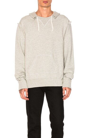 Maison Margiela Oversize Hoodie in Light Gray Melange