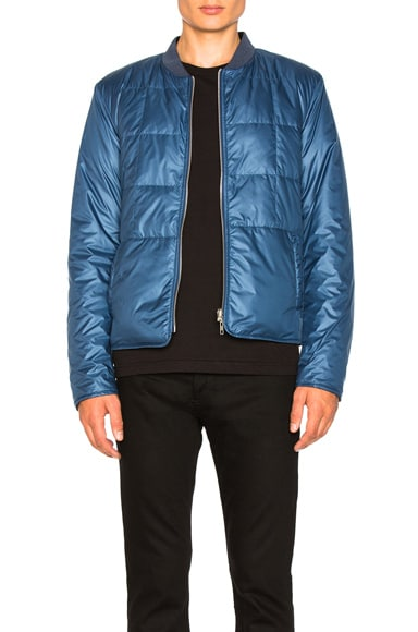 Glossy Polyester Bomber Jacket