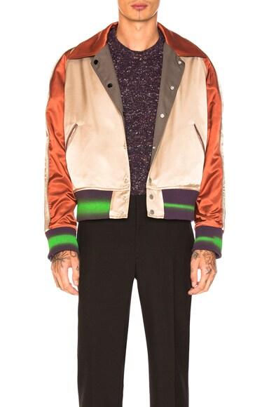 Rayon Twill Bomber Jacket