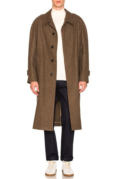 Felt Houndstooth Coat