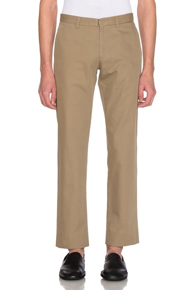 Maison Margiela Cotton Gabardine Slim Chino in Sand