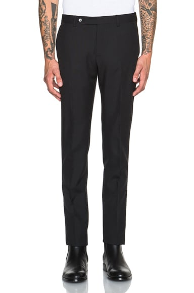 Maison Margiela Slim Fit Wool Mohair Trousers in Black