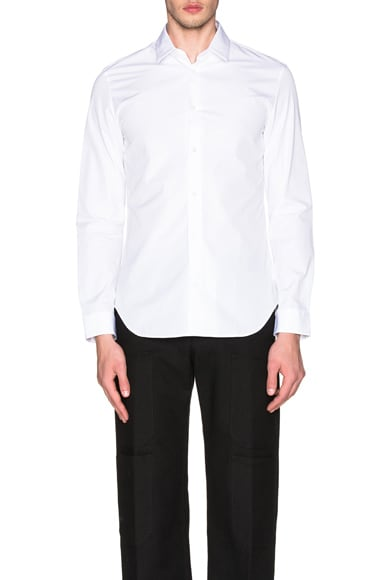 Maison Margiela Slim Fit Poplin Shirt in White