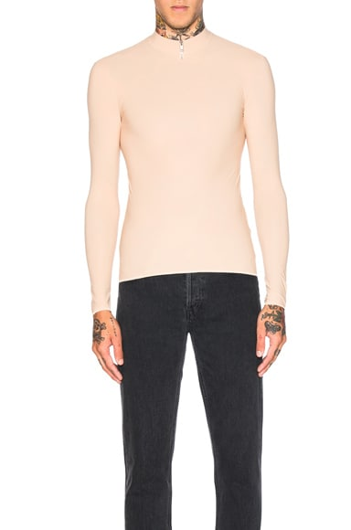 Maison Margiela Second Skin Jersey Top in Nude