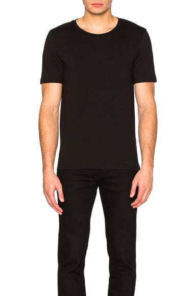 Maison Margiela Garment Dyed Basic Tee in Black