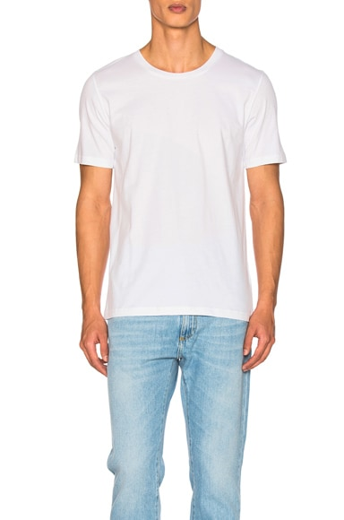 Maison Margiela Garment Dyed Basic Tee in White