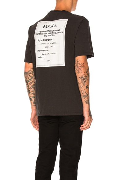 Maison Margiela Jersey Tag Tee in Black