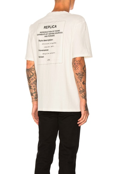 Maison Margiela Jersey Tag Tee in Off White