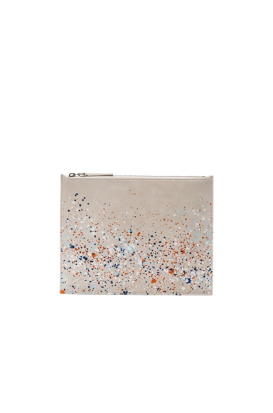 Maison Margiela Pollock Effect Pouch in White