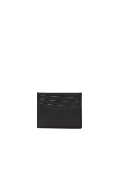 Maison Margiela Calf Leather Cardholder in Black