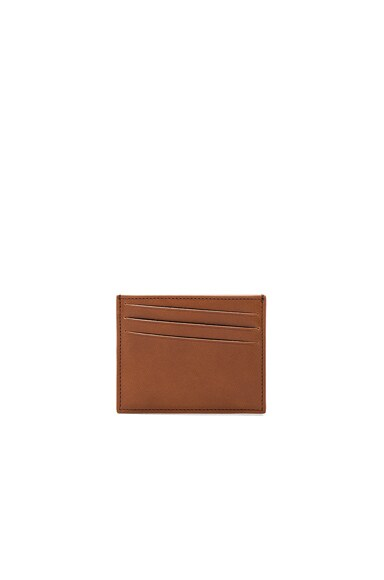 Maison Margiela Calf Leather Cardholder in Papaya Tan