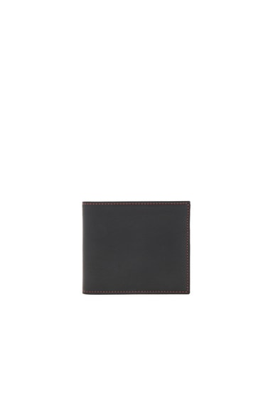 Grained Soft Leather Billfold Wallet
