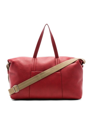 Soft Leather Duffel Bag