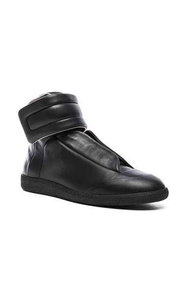 Maison Margiela Leather Future High Tops in Black