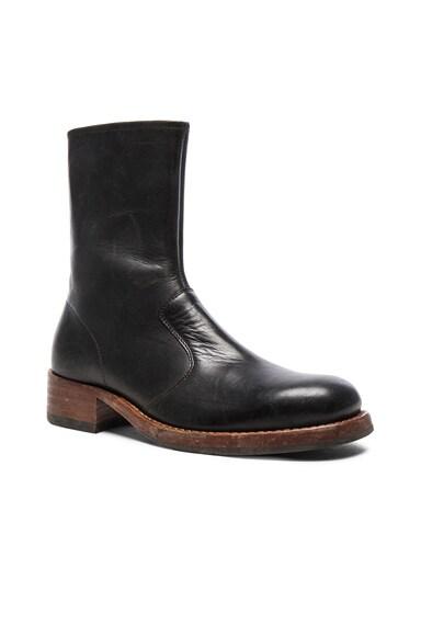 Maison Margiela Leather Replica Boots in Black