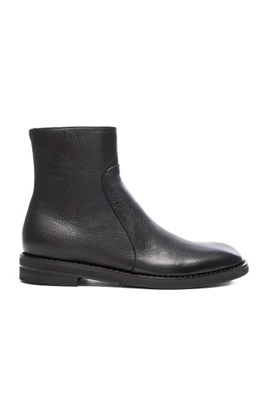 Brushed Effect Leather Boots