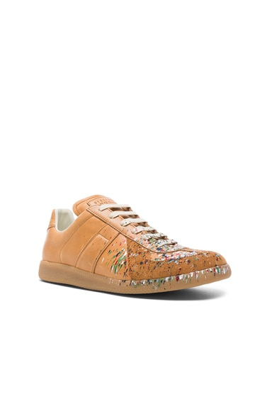 Maison Margiela Leather Replica Sneakers in Brown