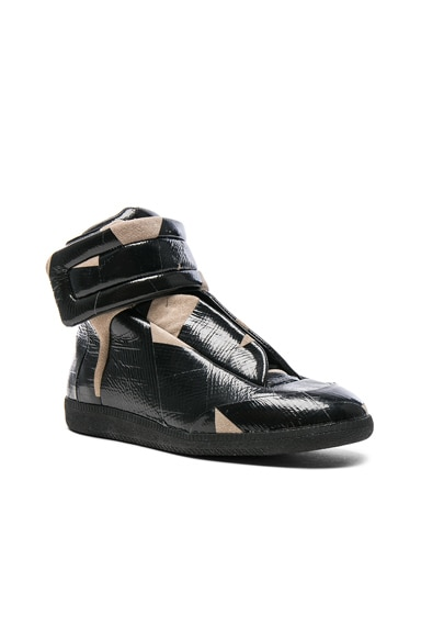 Maison Margiela Future High Top Sneakers in Flesh & Black