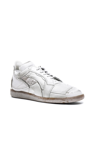 Limited Edition Mixed Soft Leather & Mesh Sneakers