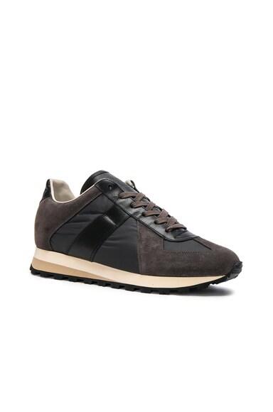 Calfskin & Suede Retro Runner Sneakers