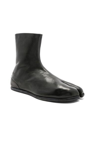 Leather Tabi Boots