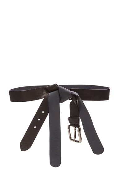 Maison Margiela Knotted Belt in Black & Blue