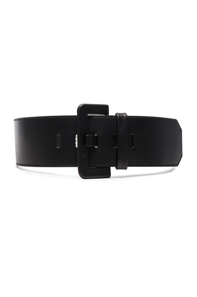 Maison Margiela Leather Belt Black