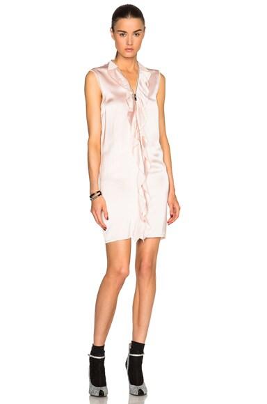 Maison Margiela Heavy Viscose Ruffle Dress in Powder