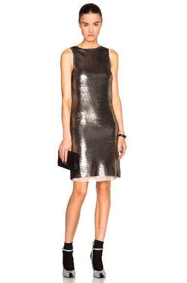 Maison Margiela Metallic Paillettes Mini Dress in Champagne