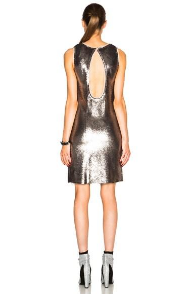 Metallic Paillettes Mini Dress
