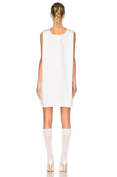 Belted Gabardine Mini Dress