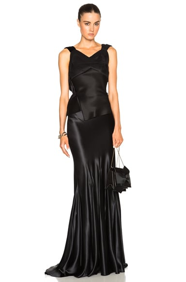 Maison Margiela Satin Gown in Black