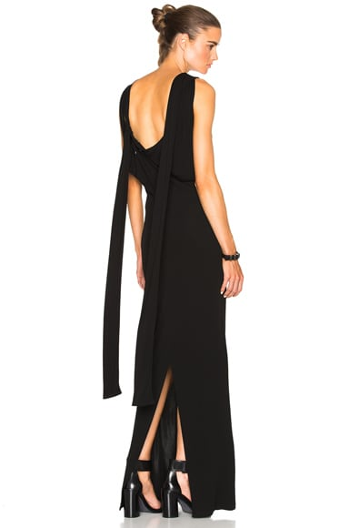 Maison Margiela Viscose Jersey Gown in Black