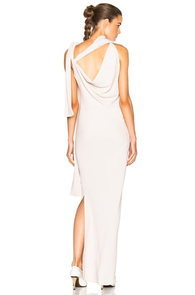 Maison Margiela Opaque Cady Gown in Champagne