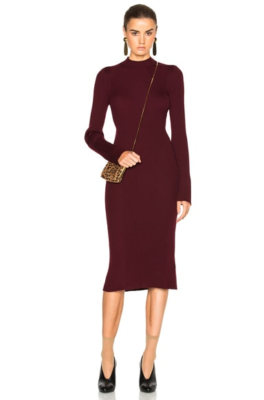 Maison Margiela Knit Dress in Garnet Red