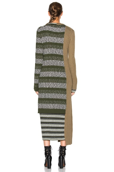 Mixed Knit Dress