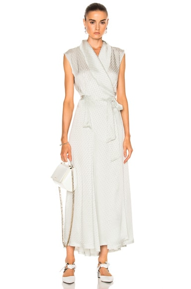 Maison Margiela Wrap Dress in Vert D'eau