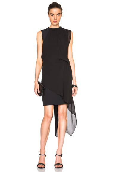 Maison Margiela Light Enver Satin Dress in Black
