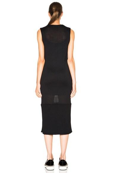 Ribbed Knit Jersey Dress