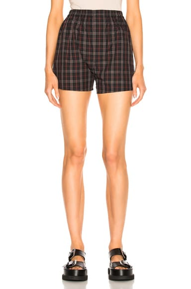 Cotton Check Shorts