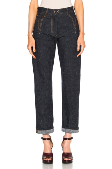 Maison Margiela Cotton Linen Denim Pants in Blue