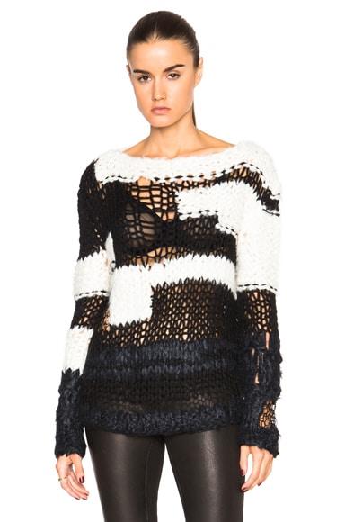 Maison Margiela Hand Made Sweater in Black & Beige